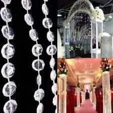 1Roll Acrylic Crystal Garland Diamond Hanging Bead Chains Bead Wedding Decor