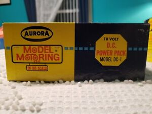 VINTAGE 1960's AURORA MODEL MOTORING 18 VOLT D.C. POWER PACK NO. 1349 MODEL DC-1