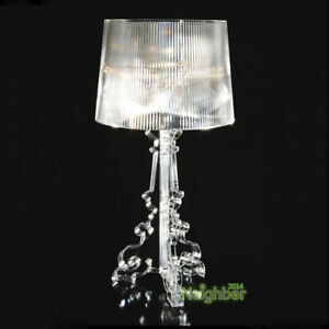 Baroque CLEAR Transparent Bourgie Table lamp LED Desk Light Lamp Reading lamp