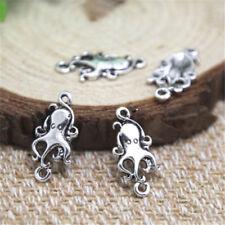 60pcs Octopus Charms , Antique Tibetan silver Octopus Charms pendants 13x15mm