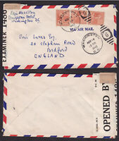 USA United States 1942 Censored Cover to England