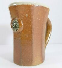 Handmade Stoneware Coffee Mug. Brown Glaze