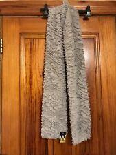 Wallis Faux Fur Grey Long Scarf Shawl