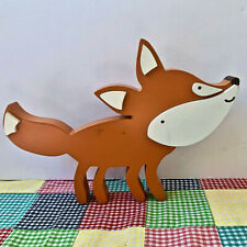 Wood Carved FOX Wall Decor Hanging Fox Hunting Decoration Wooden Hangers