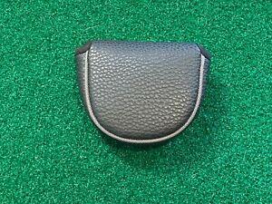 GOLF PLAIN BLACK MALLET PUTTER HEADCOVER - Premium Head Cover GREAT