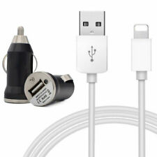 2in1 Car Charger + USB Sync Charging Cable fits iPhone 8 7 6s 6 Plus 5s 5c iPad