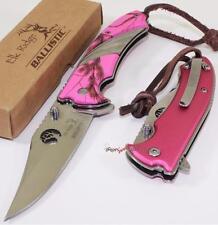 Elk Ridge Mossy Blaze Pink Oak Camo Spring Assisted Opening Folding Pocket Knife