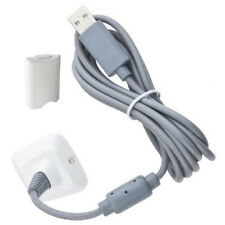Nuevo Blanco Xbox 360 Kit de juego y de carga Recargable Batería Pack & Cable