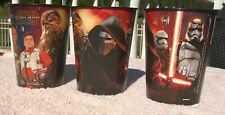 Set of 3 New Star Wars The Force Awakens Plastic 16 Ounce Cups Luke Chewbacca