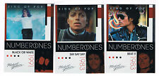 10-11 MICHAEL JACKSON PANINI NUMBER ONES PLATINUM #189 BLACK OR WHITE
