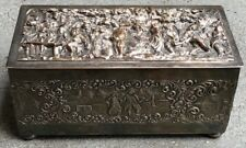 VINTAGE HINGED BOX WITH RELIEF MADE BY BARBOUR INTERNATIONAL SILVER CO