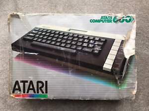 Vintage Boxed Atari 600xl Computer Boxed Tested Working With Power Supply & Lead
