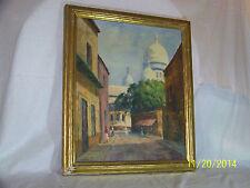 *Henri Brenou*Listed Artist Original Oil On Canvas Basilica Sacre Coeur Paris