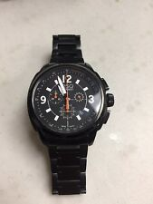 ESQ MOVADO CHRONOGRAPH  BLACK STAINLESS STEEL  WATCH
