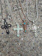 Necklace cross x4 various designs