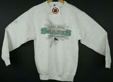Vintage 90's Starter San Jose Sharks Crew Neck Sweater Light Gray Youth XL