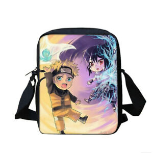 Naruto0 Teenagers School 4PCS Backpacks Set Pen Bag Crossbody Bag Lunch Bag Lot