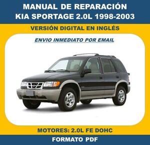 MANUAL DE TALLER KIA SPORTAGE 2.0L FE DOHC 1998-2003