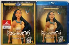 DISNEY POCAHONTAS 1 & 2 BLU RAY + SLIPCOVER SLEEVE 2 MOVIE COLLECTION FREE SHIP