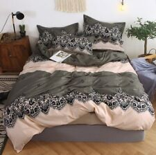 mylb Bedding Set Blue Euro Bedspread Luxury Duvet Cover Double Bed Sheets