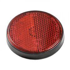 roter universal Reflektor Katzenauge Rückstrahler rot Motorrad KFZ rund 60mm