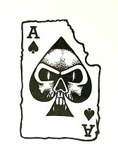 1 x ACE OF SPADES  black colour Temporary Tattoo  TY0265
