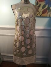 Muse gold metallic halter party-cocktail dress, NWT size 4