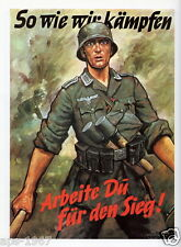 German WW2 Wehrmacht As we Fight Poster