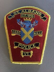 Vermont  Police - St. albans  Police   VT  Police  Patch
