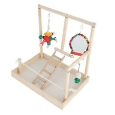 Bird Playstand Wood Perch w/Swing &Chew Toy Cockatiel Exercise Playground Type 2