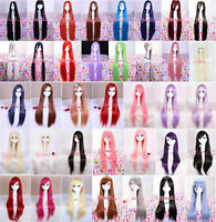 """25""""-60"""" Long Straight Synthetic All Colors Womens Cosplay Hair Wig With Free Cap"""