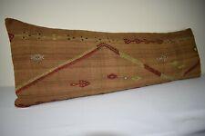16'' X 47'' Queen Boho Woven Bedding Kilim Pillow Cover, King Long Bed Cushion
