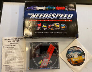 THE NEED FOR SPEED COLLECTION. PC. Electronic Arts.  5-CD SET