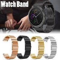 Genuine Stainless Steel Bracelet Watch Band Strap For Garmin Vivoactive 3 Watch