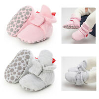 Newborn Baby Girls Boys Winter Warm Boots Toddler Soft fleece Sole Shoes 0-18M