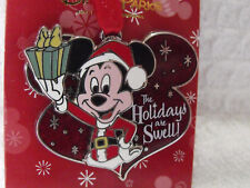 2014 Disney Trading Pin Christmas Ornament The Holidays Are Swell Mickey Mouse