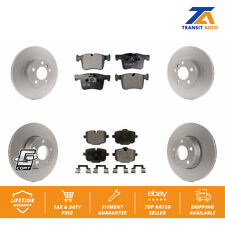 Front Rear Coated Disc Rotors & Ceramic Brake Pads Fits BMW X3 X4