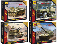 ZVEZDA Soviet Military Vehicles / Tanks /Armed Forces Model Kits 1:100 Unpainted