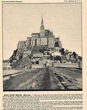 MONT SAINT MICHEL IMAGE 1931 PRINT