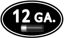 """12 Gauge Ammo Can ** 2 PACK ** 5""""x3"""" Oval Shotgun Gun Vinyl Sticker D916"""