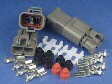 2 pins Waterproof HONDA FAN MOTOR Connector Socket Plug 1 Kit High Power 12 AWG