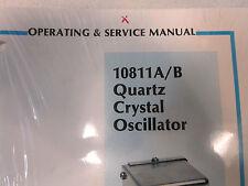 HP 10811A/B Quartz Crystal Oscillator Operating and Service Manual