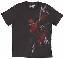Marvel Comics Original Old Navy Faded Black Spider-man Tee Size L T-Shirt