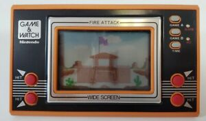 Nintendo Game & Watch Fire Attack Widescreen 1982 ID-29 Vintage - Tested