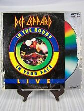 Def Leppard In The Round In Your Face Live Laser Disc 1989