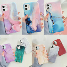 Watercolor Marble Soft Silicone Case Cover For iPhone 12 XR 11 Pro Max XS 8 7 SE