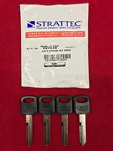 Set of 4: OEM Genuine Ford Uncut Key Blank STRATTEC 597638 011-R0223 S Blade