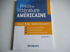 PRECIS DE LITTERATURE AMERICAINE / LICENCE - PREPA - CONCOURS ET EXAMENS