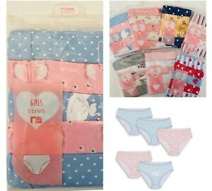 BNWT MOTHERCARE Girls 5 Multi Pack Pink Cotton Briefs Knickers Pants Underwear