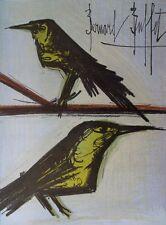 Bernard BUFFET : les oiseaux - LITHOGRAPHIE signée et référencée  #MOURLOT #1967